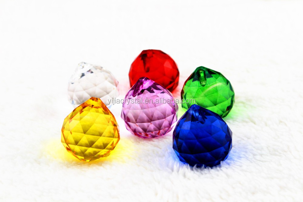 wholesale cheap chandelier crystal ball/ clear crystal christmas ball ornaments