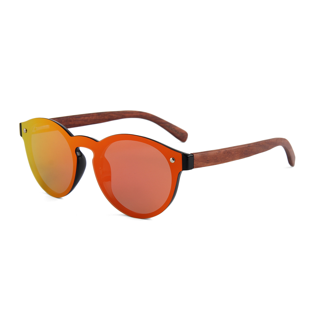 New design Zogift wood one lens sunglasses polarized wooden sunglass