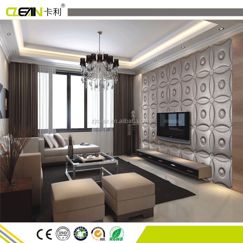 Improve Interior Design Product Sourcing With 3d Home: 3d Leather Interior Decorative Soundproof Wall Panel