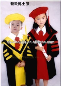wholesale pink graduation gown/children graduation gown