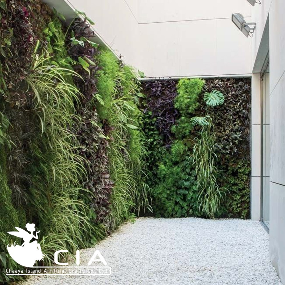 Groene muur modules plastic verticale tuin planten op Green walls vertical planting systems