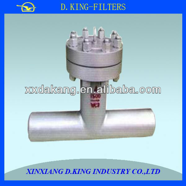 stainless steel big flow high quality t type strainer
