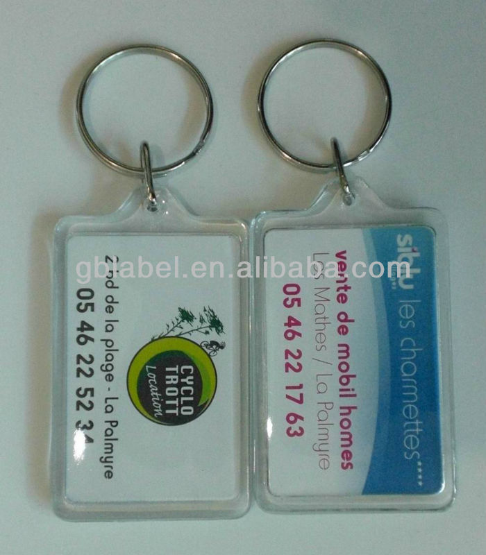 promotional cheap acrylic keychains