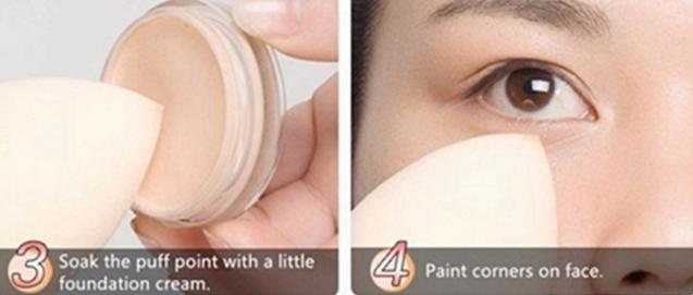 Fashion Zwart Duurzaam gebruik Ei vormige make-up spons applicator