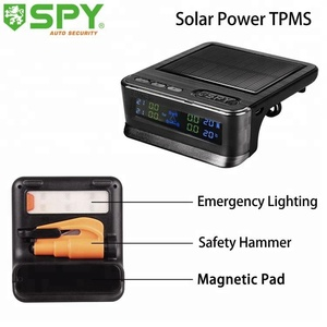 With safety hammer and Emergency lighting Solar Power Car TPMS