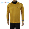 Star Trek Into Darkness Captain Kirk Shirt Uniform Cosplay Costume Yellow Version Size XS XXXXL