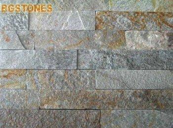 Listello di pietra quarzite metallo piastrelle di ceramica grigio