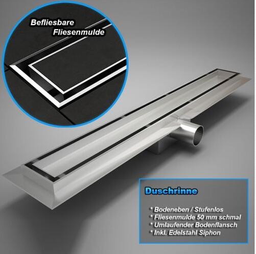shower bathroom stainless steel floor trap drains long linear floor drain