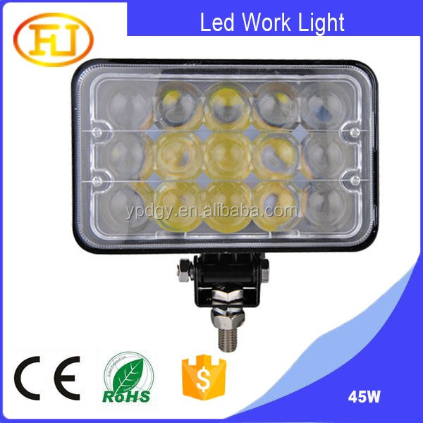 Super Bright Ip67 Led Work Light 45w Jeep Headlight 7inch 12v ...