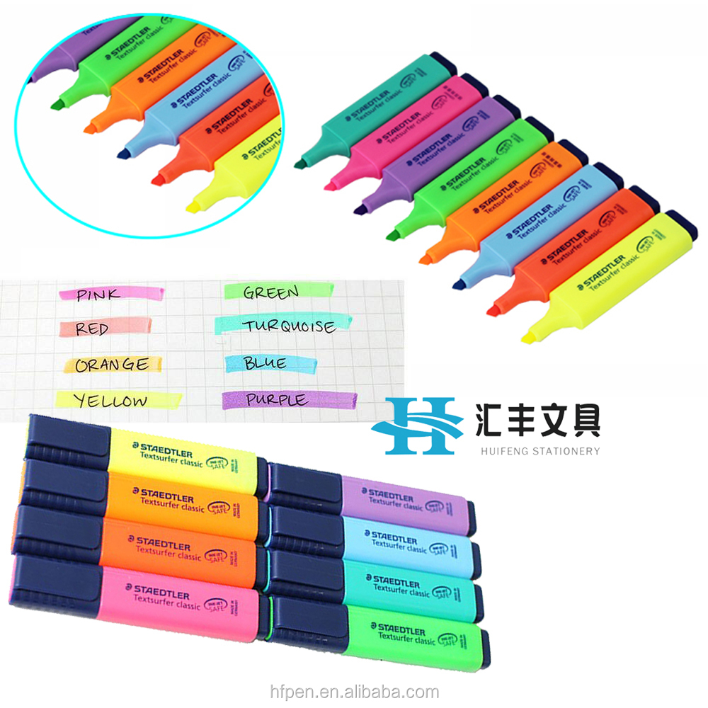 Mini multi colored erasable ink gel highlighter marker pen set with custom logo