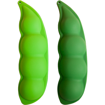 hot sale cheap peas shape silicone rubber pencil bag with zipper