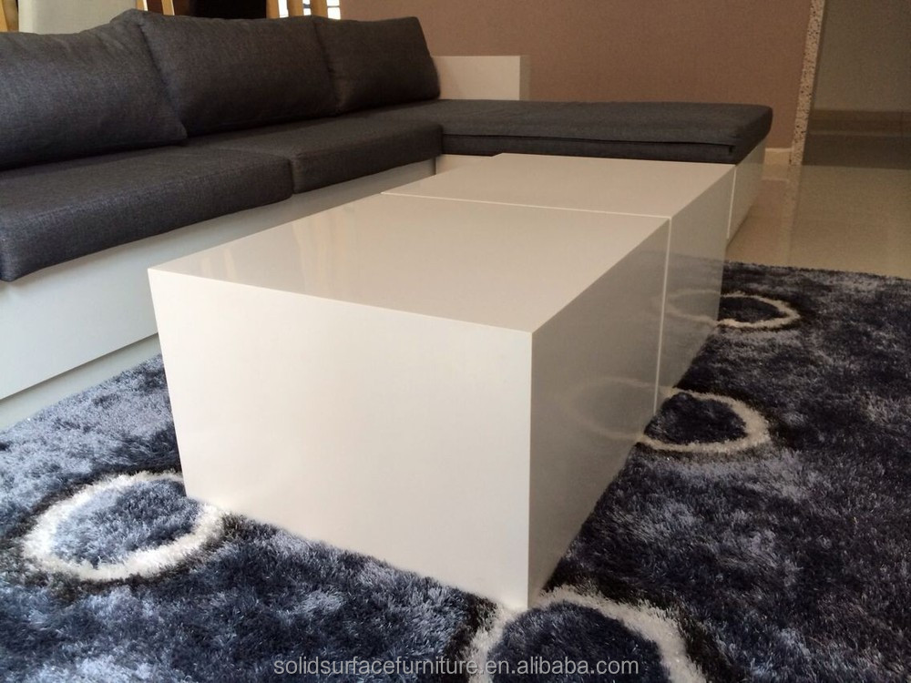 Tell world simple white artificial marble modern office for Center table design for office