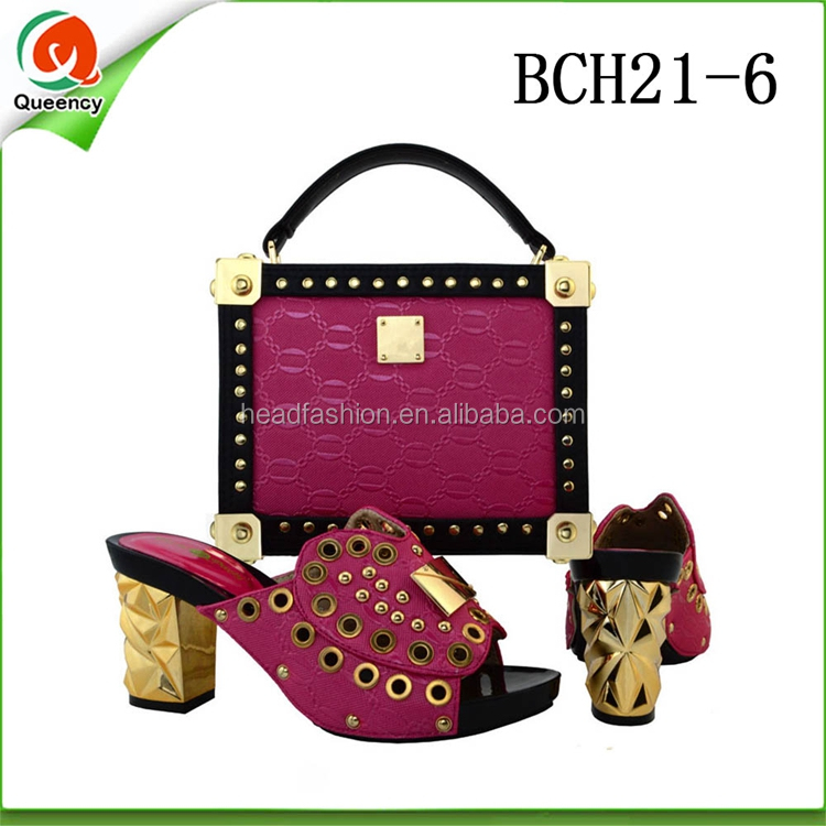 Shoes Bag 2017 BCH18 Wedding Fashion Set Italian Queency Matching Clutch with URq1CwXx