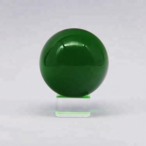 Magic customized green photography crystal ball sphere as decoration or gift