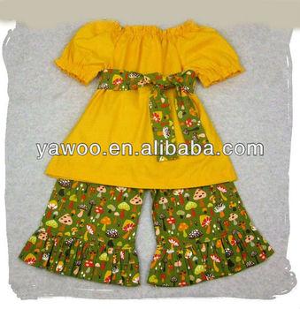 Summer Yellow Kids Cotton Designer Toddler Wholesale Children The
