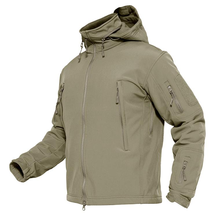 سترة سوفتشيل تكتيكية عسكرية مخصصة ، معطف سترة قتالية للجيش مع غطاء رأس قابل للإزالة ، سترة للصيد والصيد