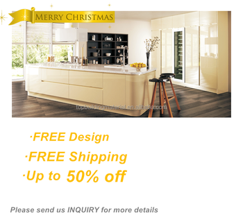 Australia modern design cream glossy kitchen