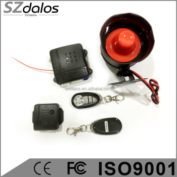 Vehicle keyless Car Alarm One Way Remote Controllers ultrasonic sensor with keyless function