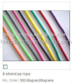 Multifunctional nylon crimps braided rope