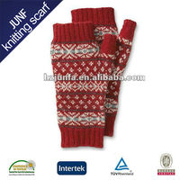 Newest Design Pretty Girls Lovely Image Cute Soft Knitted zhejiang tonglu White Cotton Glove