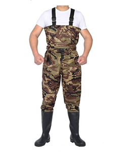 good quality 70D nylon pvc camo print waterproof chest fishing wader