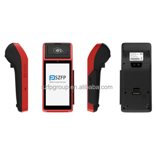 NEW9210 Android スマートモバイル pos 端末 NFC カードリーダー、 4 グラム、 wif 、スキャナとプリンタ