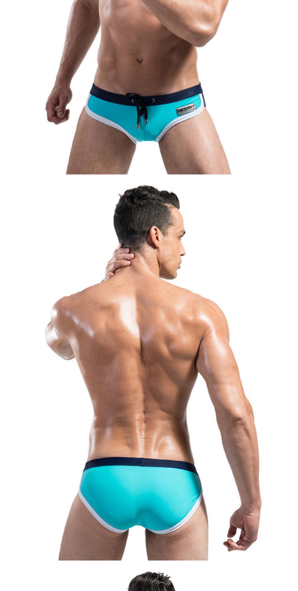 b5b9ed474 DMS03 Homens Troncos Sexy Swimsuit Estilo Respirável Malha Forro ...