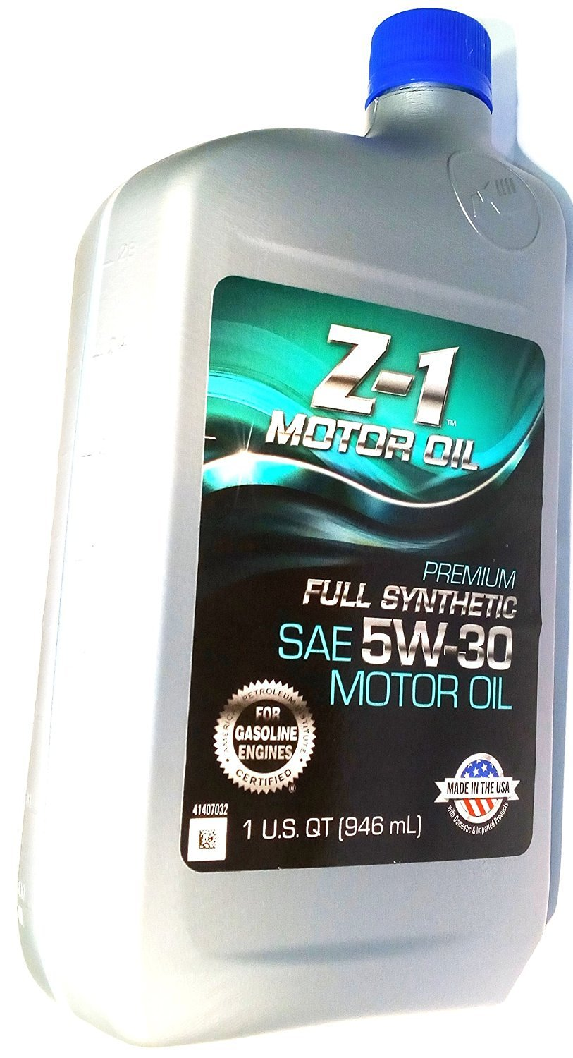 Genuine Z-1 Certified - Premium Full Synthetic Gasolines Engine Oil - SAE 5W-30 - Advanced Wear Protection- (1 U.S. Quart/946 mL) - Bottle - [Case of 12]