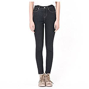 Women Jeans - TOOGOO(R)Woman's Autumn Fashion High Waist jeans High Elastic plus size Women Jeans woman washed casual skinny pencil Denim pants(Black,S/US-0)
