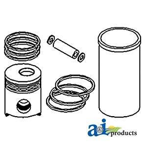 """A&I Products Piston with Rings (.020"""") (4/1968-1975) Replacement for Ford -..."""