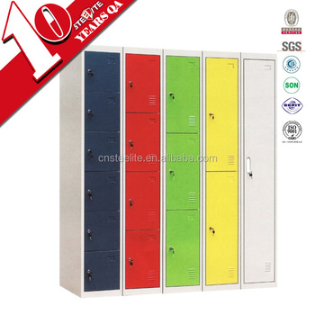 High Gloss Factory Price Locker Tall Thin Metal Clothes Storage Cabinet