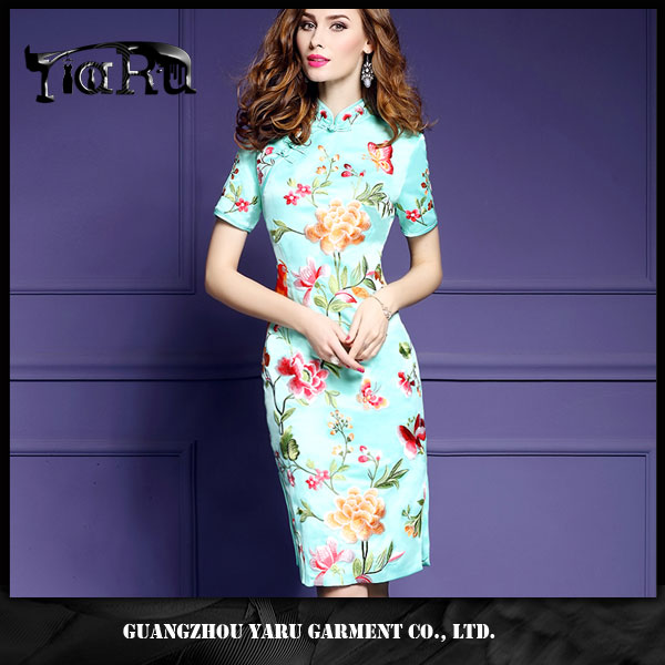 New arrival beautiful Chinese qipao cheongsam dresses for women elegant