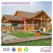 New Prefabriacted Log Cabin 3-bedroom Wooden home with terrace KPL-030