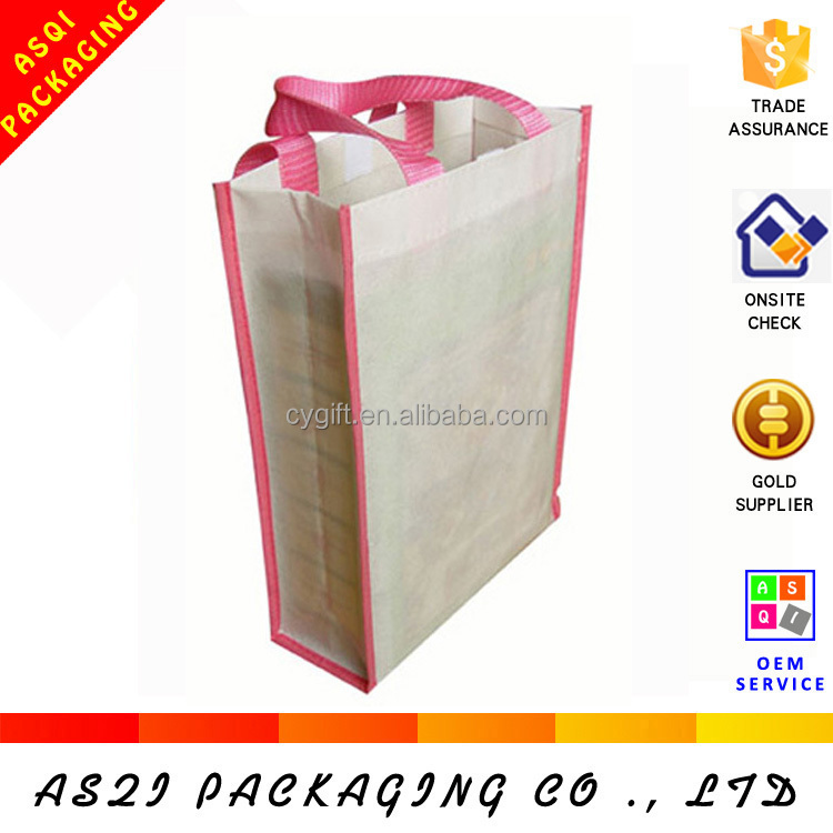 vertical and horizontal non woven reusable laminated eco whole sale bag for shopping
