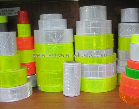 High prismatic reflective pvc tape / PVC crystal reflective tape / warning reflective pvc tape