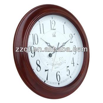 Ceramic Wall Clock Silent Decor Wood Round Shape Home Office Library Wall Clock Roman Design Wall Clock Buy Ceramic Wall Clockanalog Wall