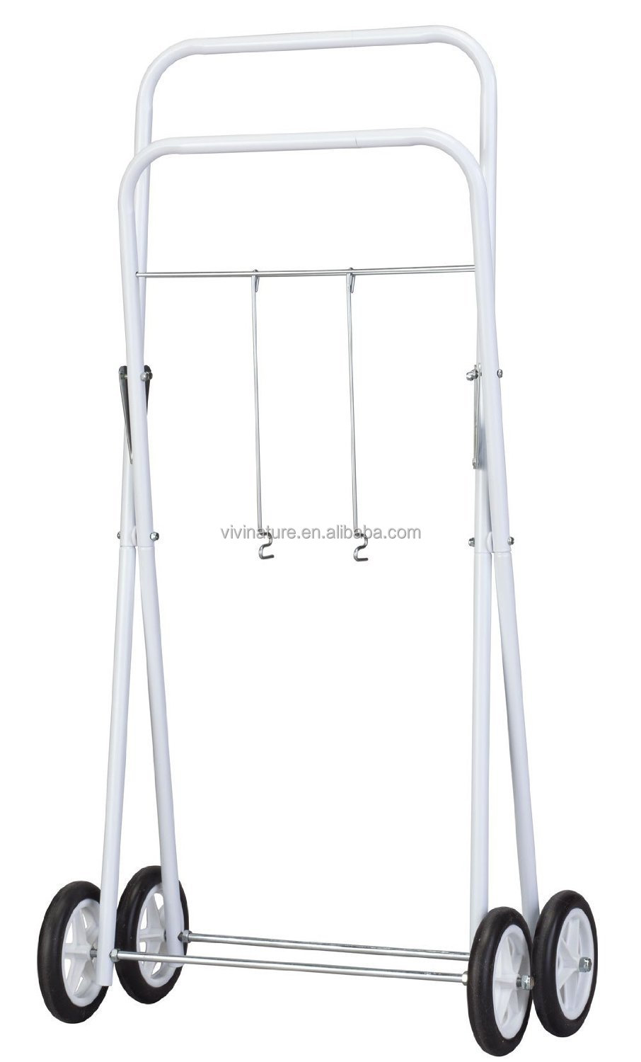 Laundry Clothes Basket Trolley Removable Basket Laundry On