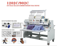 2 heads embroidery machine have the same quality like janome/gemsy embroidery machine