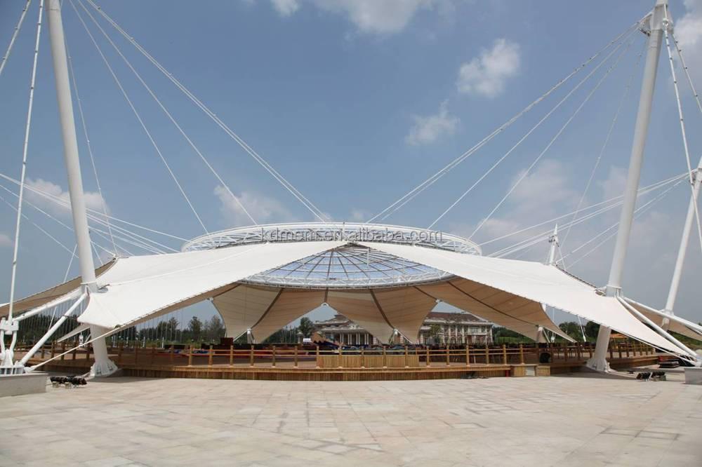 Sun Island Hotel platform tensile membrane structure canopy roof & Sun Island Hotel platform tensile membrane structure canopy roof ...