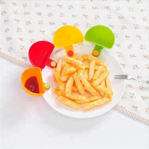 Hot sale plastic seasoning sauce dip dishes / multifunction accessories tomato sauce dip clips