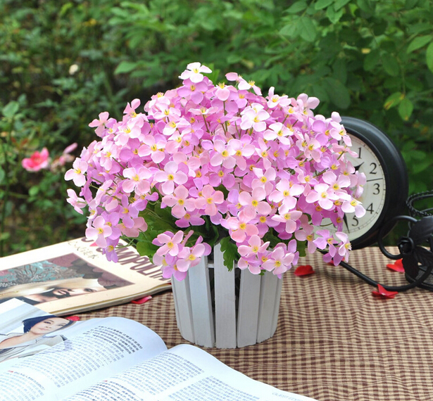 Mini Spring Flowers 4 petals Fake Artificial Flowers For Home garden Wedding decorations MA2200