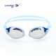 OEM wholesale mirrored lenses swimming glasses with silicone gasket anti fog swimming goggles for adult asian