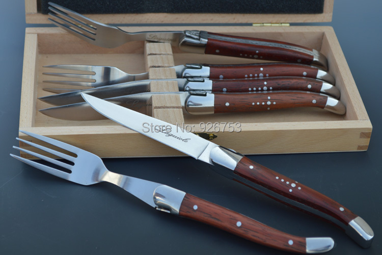 Laguiole S S Steak Knife And Fork With Five Different