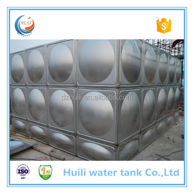 SS 304/316 bolted connection water storage tank with ISO