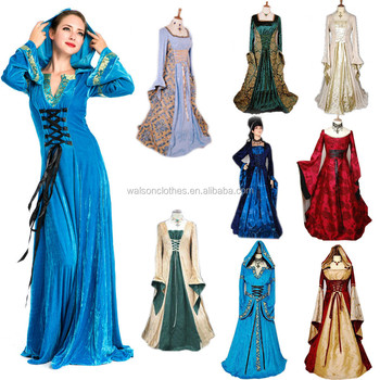 Wholesale 2015 Walson Renaissance Medieval Costume lady Cosplay ...