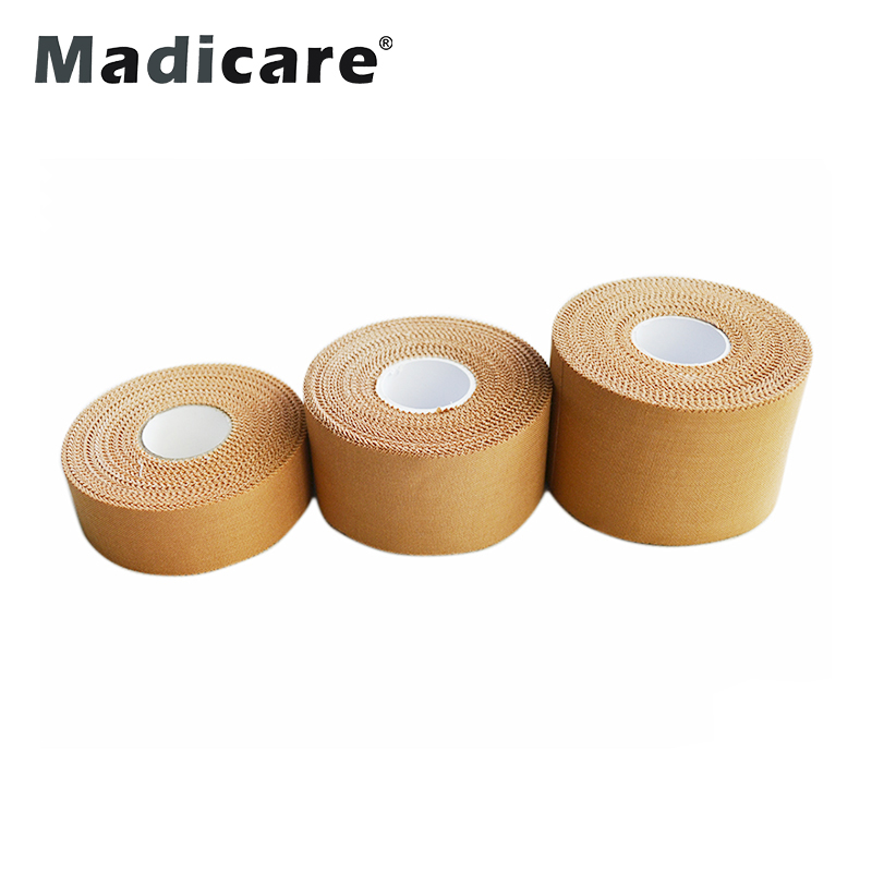5 cm x 13.7 m Zigzag Rand Atleet Bescherming Katoen Sport Tape Poreuze Stijve Rayon strapping Taping CE/FDA/ISO