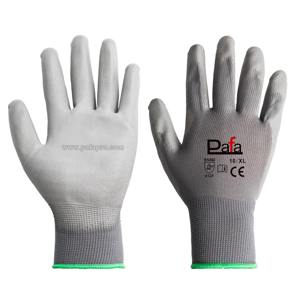 White Pu Coated Work Gloves Nylon Polyester Gloves Buy Reflective Traffic Gloves