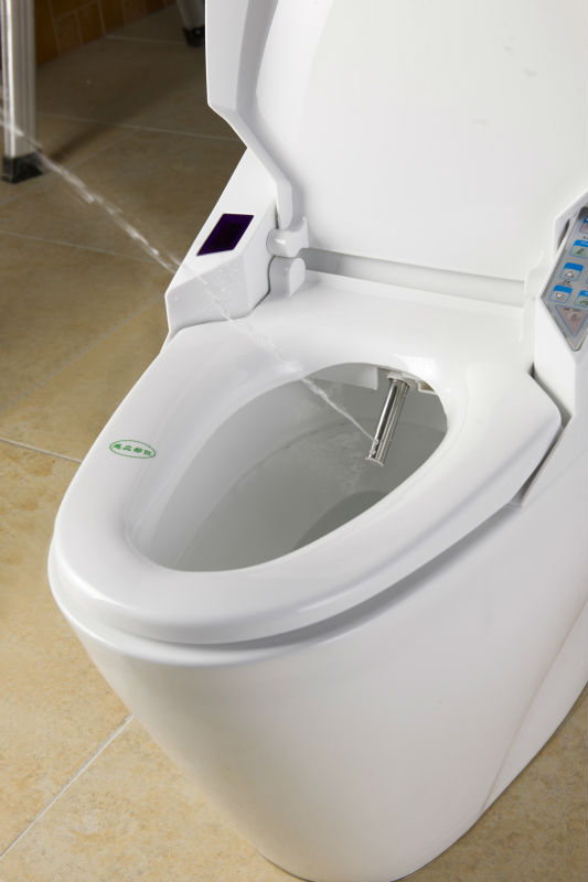 Automatic toilet with built in bidet contemporary square strap smart toilet buy contemporary - Automatic bidet toilet seat ...