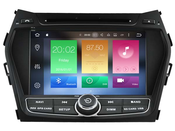 8 Octa Core 2gb RAM 32gb ROM Android 6.0 car dvd player fit for Hyundai ix45 Santa Fe 2013 stereo radio multimedia headunit GPS