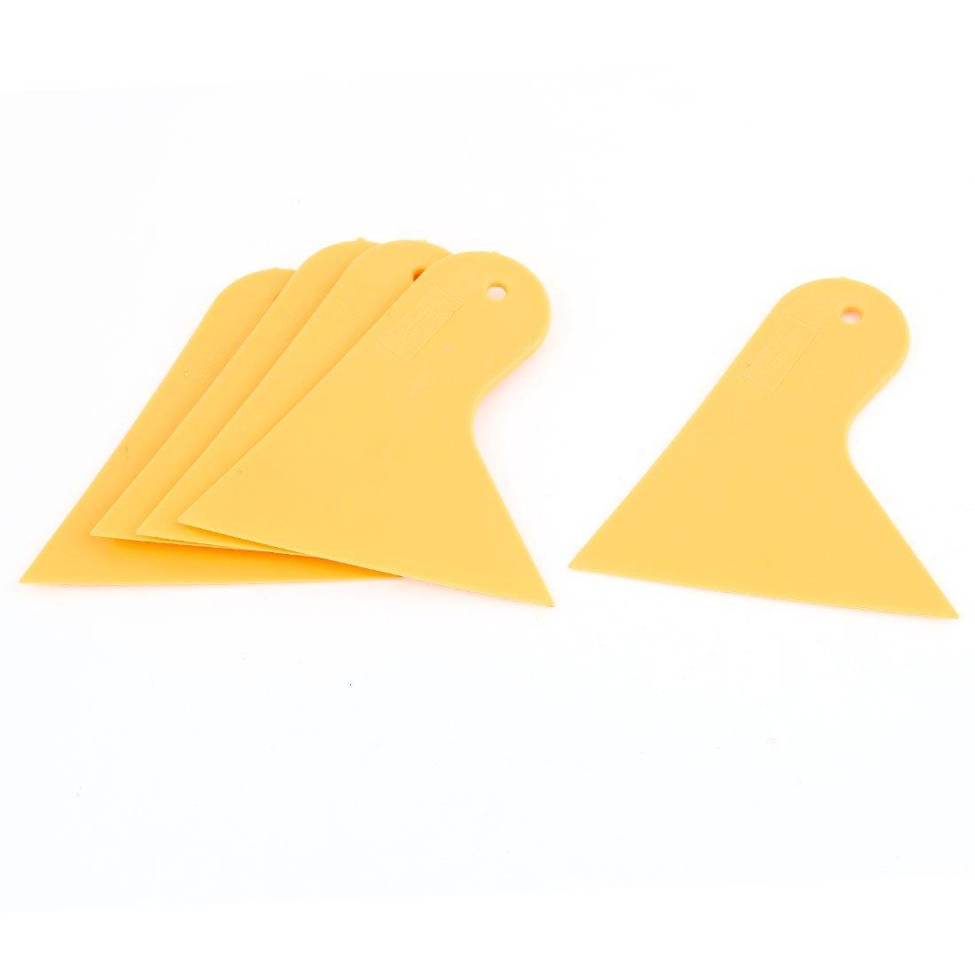 4 Pcs Cars Yellow Plastic Blade Window Windshield Film Scraper